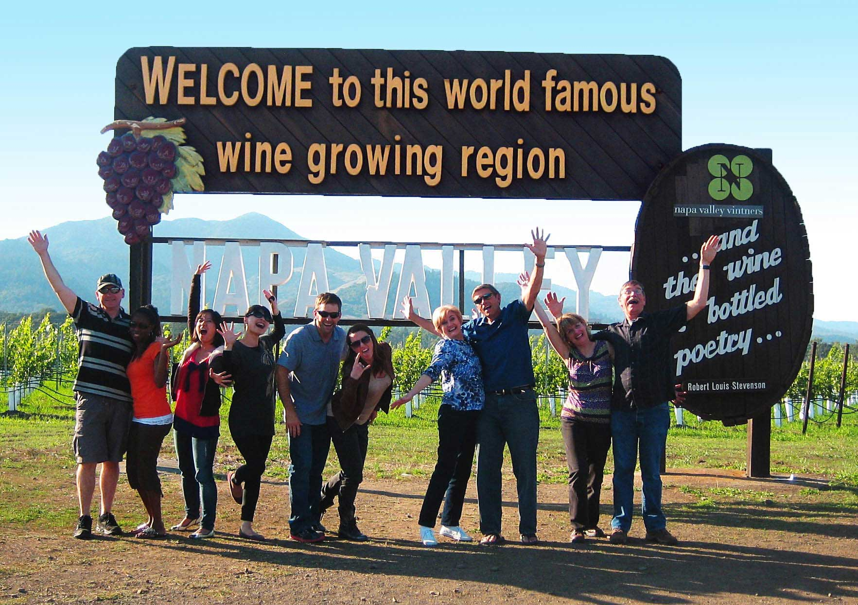 Platypus Wine Tours - Napa Valley Sign