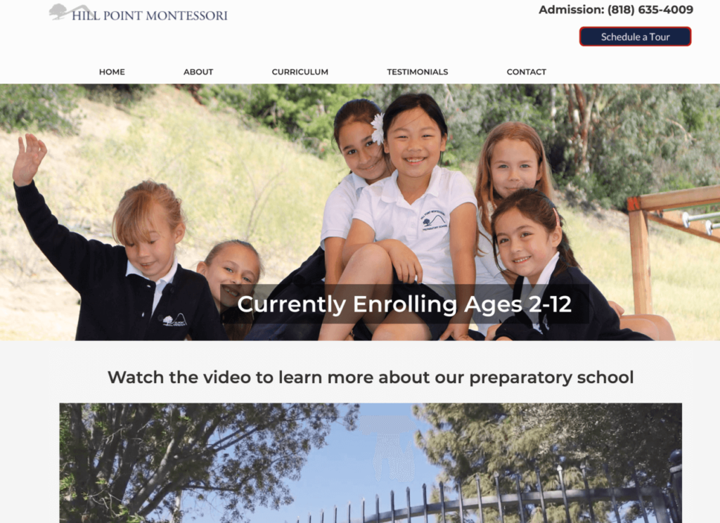 Hill Point Montessori - SEO