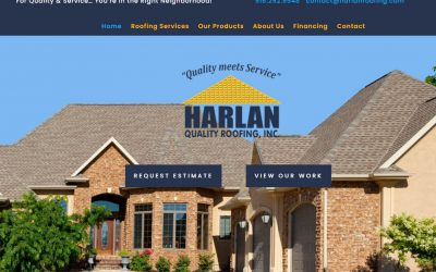 Harlan Quality Roofing – New Site and SEO Campaign